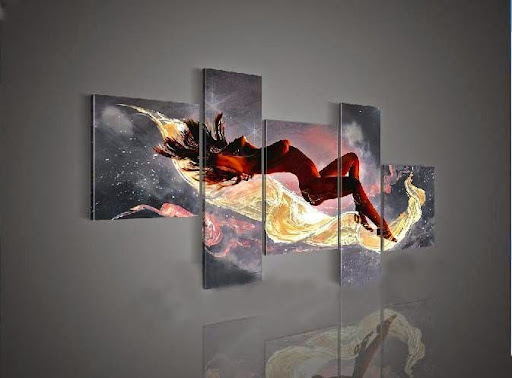 Hand-painted Hi-Q wall art home decor Sexy nude Abstrac