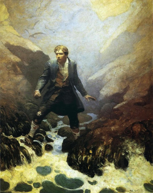 N. C. Wyeth - Kidnapped by Robert Louis Stevenson. On the Island of Earraid