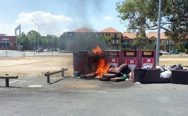 burning bins