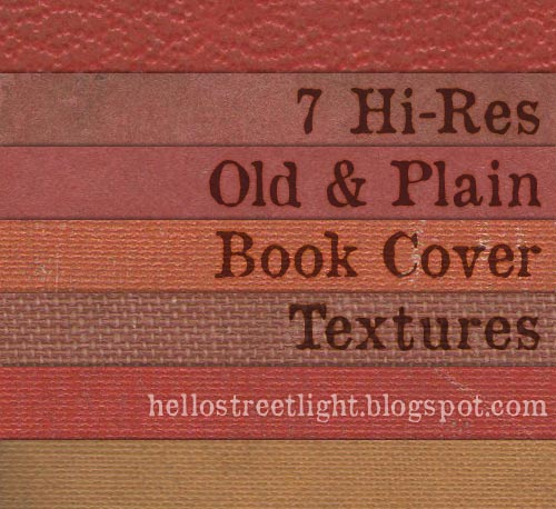 Free Hi-Res Old Plain Book Cover Textures