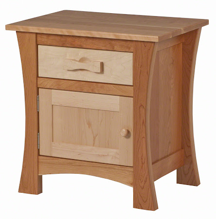 Zen Nightstand in Cherry and Hard Maple