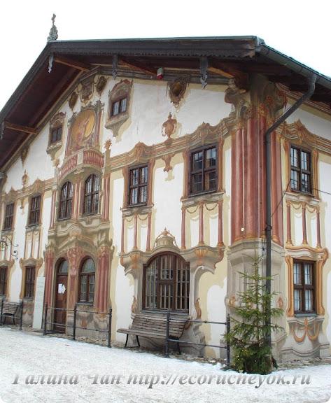 Дом в Обераммергау (Германия, земля Бавария).