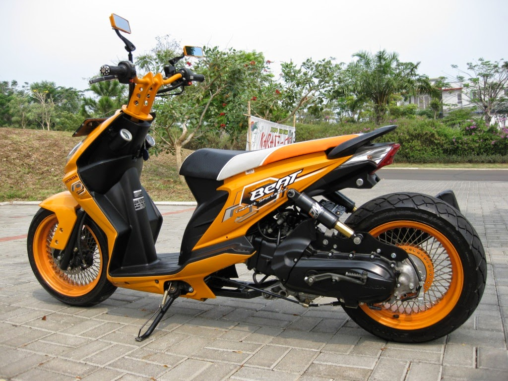 Modifikasi Honda Beat Warna Hijau