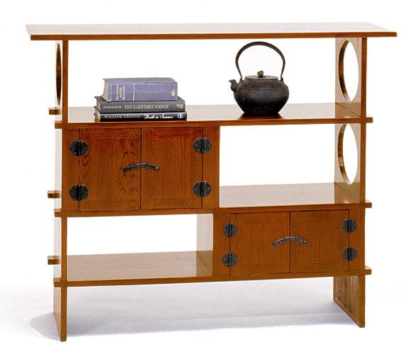wooden tea chest shelf furniture