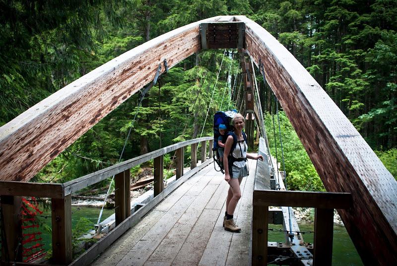 w prastarym lesie na Middle Fork Trail..