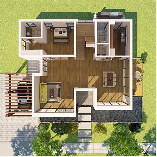 Thiết kế Tầng 1 biệt thự ecopark vườn tùng
