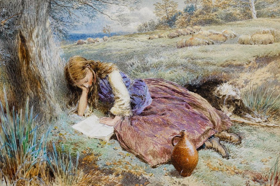 Myles Birket Foster - The shepherdess