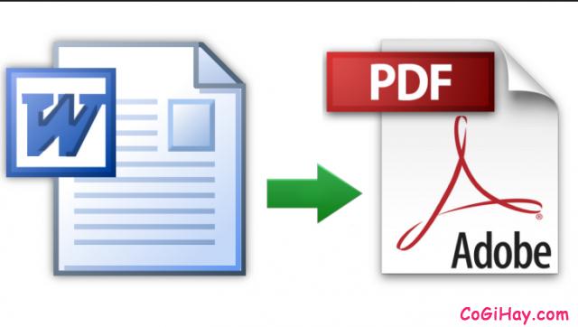 Chuyển tài liệu word .doc và .docx sang pdf nhanh không cần phần mềm