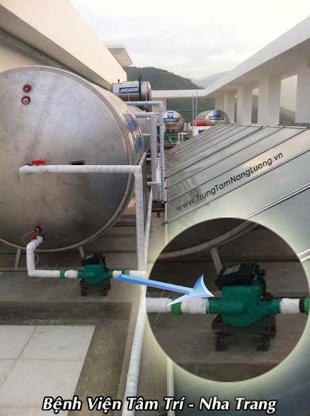 Máy bơm tăng áp Wilo tại bệnh viện Tâm Trí - Nha Trang