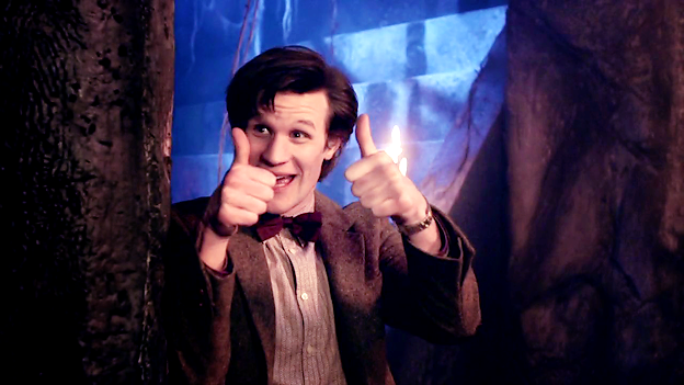 Eleven with his thumbs up