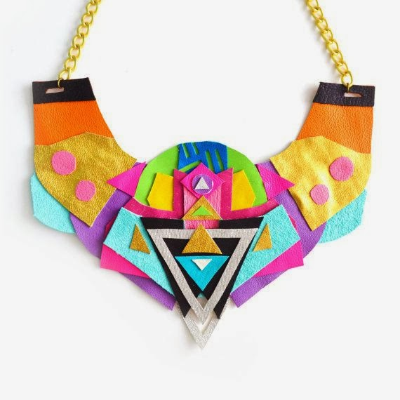 Neon Bib Necklace by Boo and Boo Factory