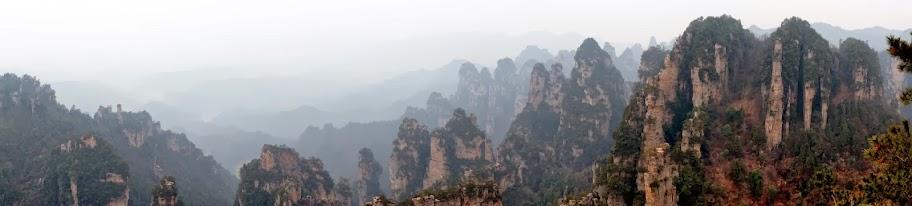Panorámica desde el mirador de Tianbo mansión