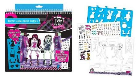 "Monster High: ""Monster Fashion Sketch Portfolio"""