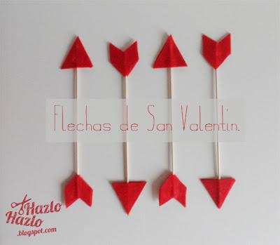 Cómo hacer flechas de San Valentín.