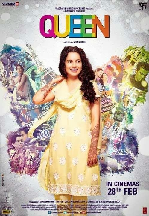 Poster Of Hindi Movie Queen (2014) Free Download Full New Hindi Movie Watch Online At Alldownloads4u.Com