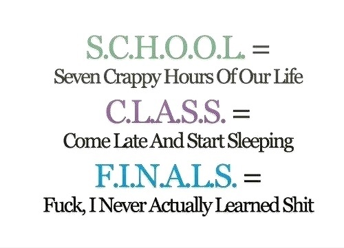 The Meaning oF School Class & Finals
