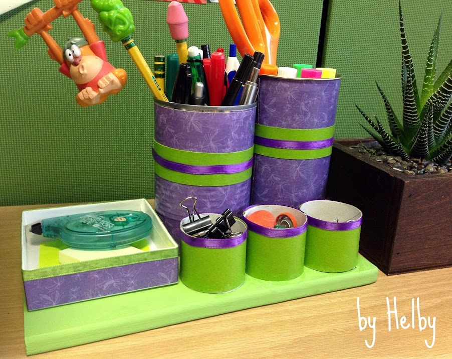 Recycled desk organizer