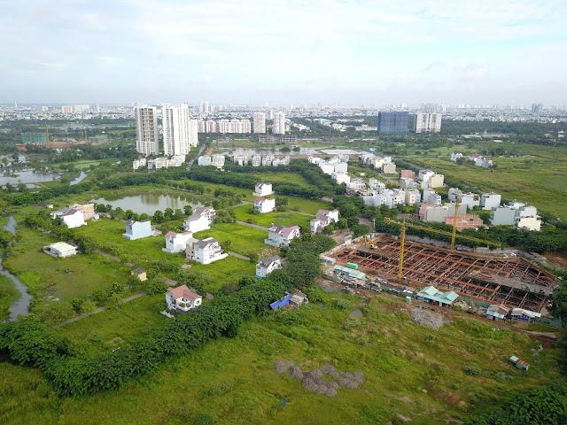 Căn hộ Saigon Intela nằm ở khu dân cư xanh, trong lành, mật độ thấp