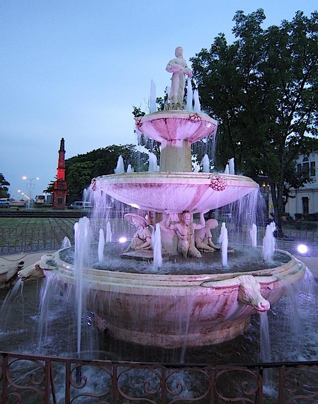 Pamulinawen Fountain at the Aurora Park in Laoag, Ilocos Norte