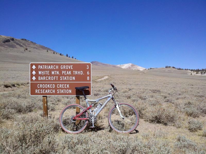 White Mountain Peak • First Road Sign