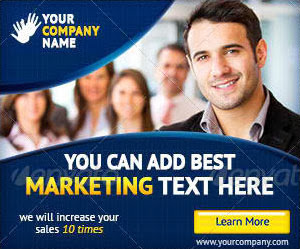 business corporate web banner design tempalte