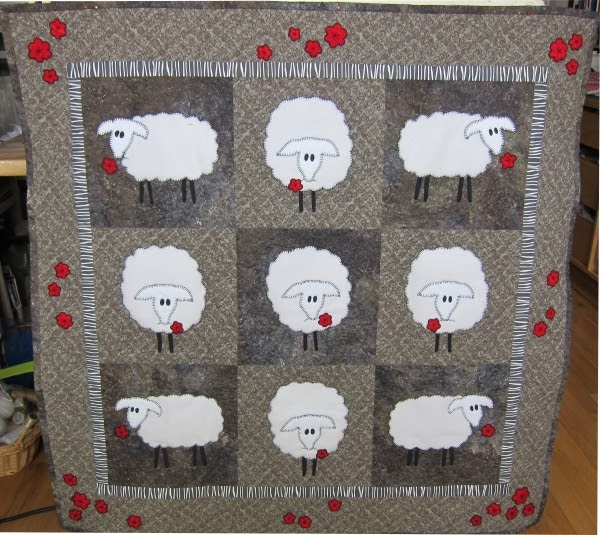 Judy Cooper Textile Images Sheep At Stonehenge