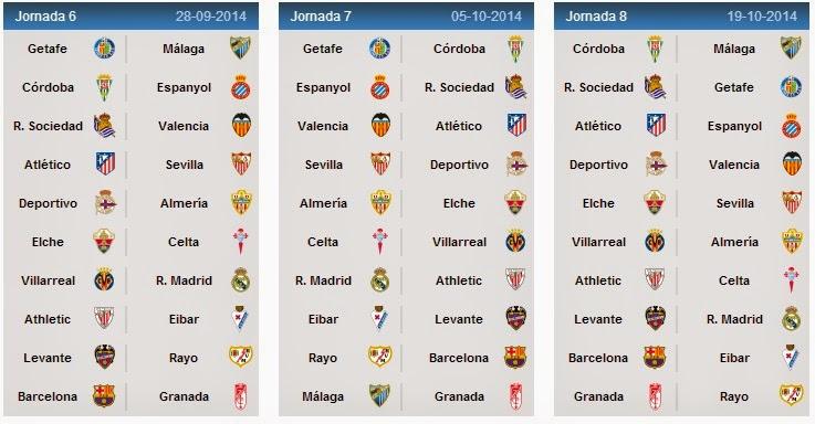 La Liga Table: Spanish League Fixtures 2014-15 La Liga Schedule