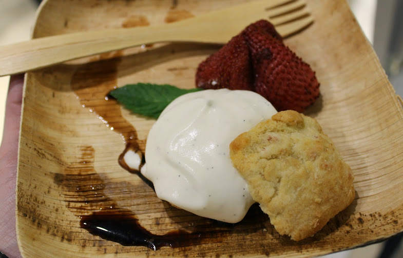 Strawberry Shortcake with Slow-Roasted Strawberries and Vanilla Creme Chantilly by Chef Johnny Iuzzini