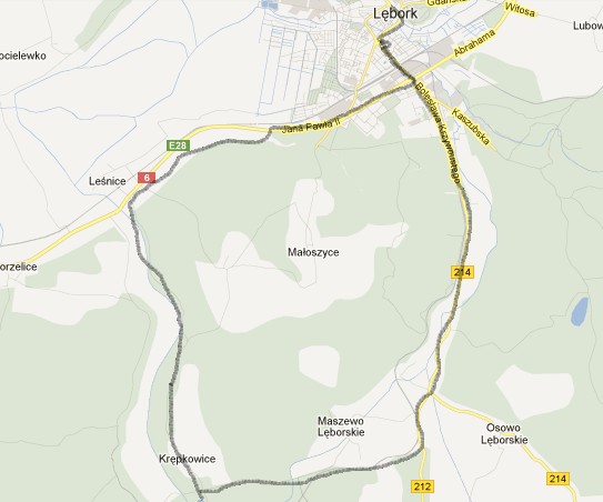 Trasa - mapka 14.04.2012