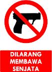 Rambu Dilarang Membawa Senjata
