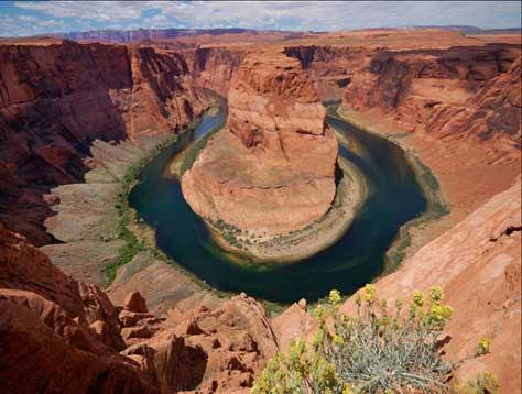 Cañón del Colorado, vista aérea río
