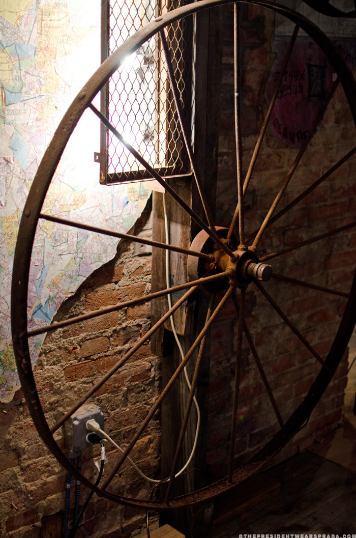 Submerge - wheel sculpture