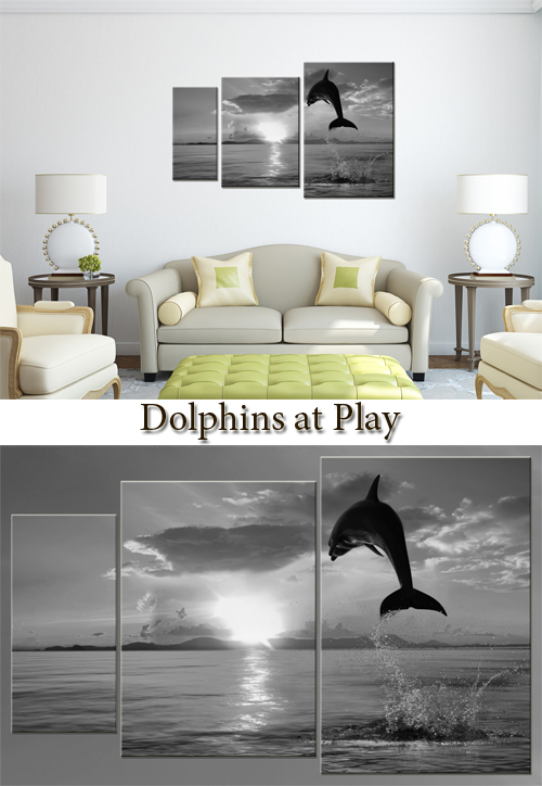 Triptyches, Fourplex - Dolphins at Play