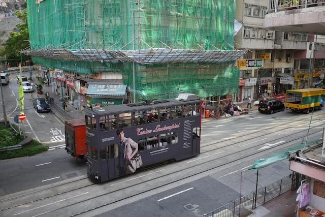 Hong Kong tram with Tonino Lamborghini advertisement
