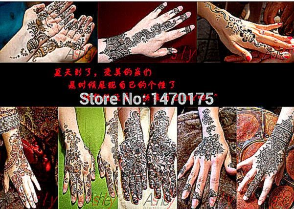 Hot sale 1pcs New Black Indian Henna Tattoo Paste Tube Cone Body