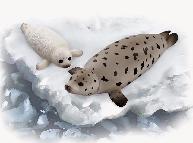 Sản phẩm Mô hình Hải Cẩu đốm Ania AS-22 Spotted Seal có thể dùng để bày hoặc đồ chơi