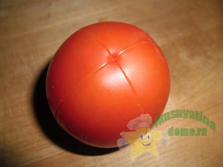 Делаем на помидоре надрез