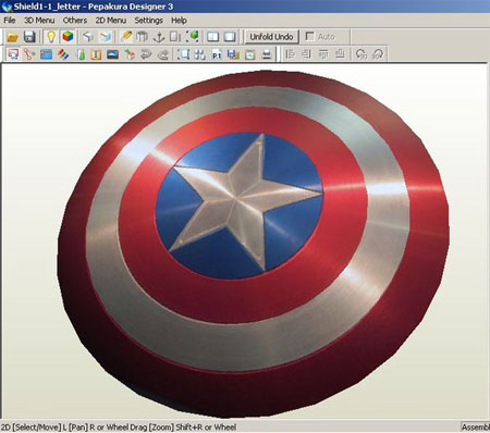 Captain America Classic Shield Papercraft