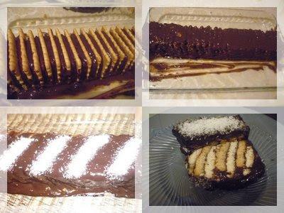 İki renkli bisküvili pasta nasıl yapılır? mozaik pasta