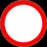 """B-1  zakaz ruchu w obu kierunkachZnak zakazuje ruchu na drodze wszelkich pojazdów, kolumn pieszych oraz jeźdźców i poganiaczy. Pod znakiem mogą być umieszczone tabliczki  T-22 """"tabliczka wskazująca, że znak nie dotyczy rowerów jednośladowych"""","""