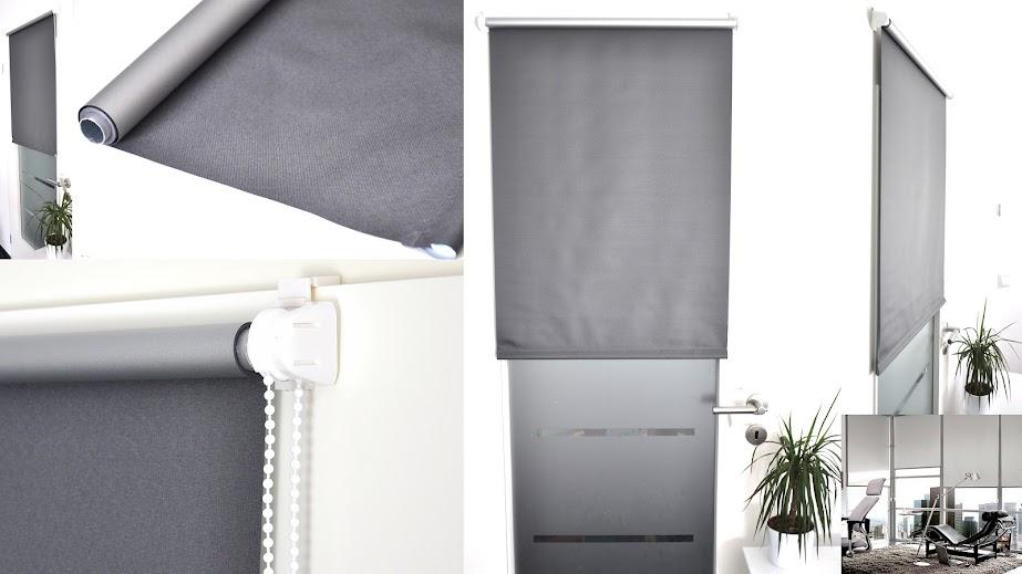 thermo verdunkelungs rollo fenster easy klemm fix ohne bohren ketten seiten zug ebay. Black Bedroom Furniture Sets. Home Design Ideas