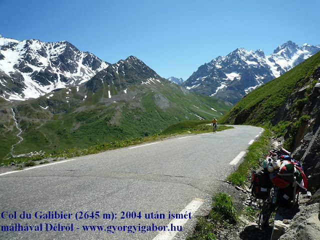 Györgyi Gábor & Francia Alpok kerékpártúra, Col du Galibier