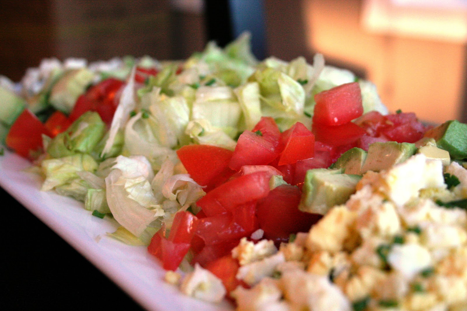 ... than takeout: Vegetarian Cobb Salad and Easy Homemade Salad Dressing