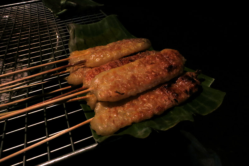 Sticky rice... on a stick