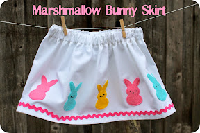 marshmallow bunny skirt + tutorial