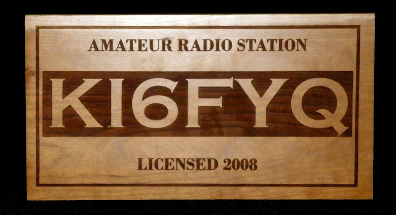 Large Cherry Laser Engraved Raised Call Sign Wall Plaque