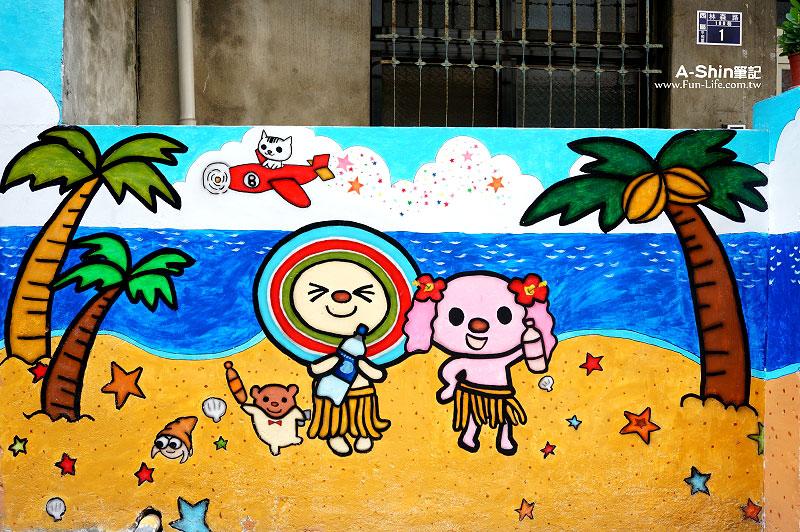 台中海賊王壁畫2