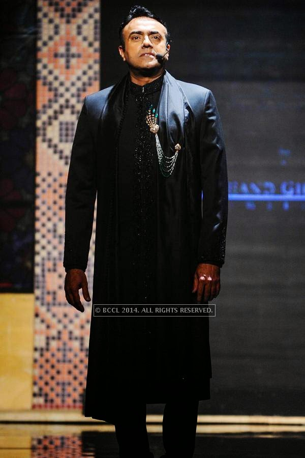 Rajit Kapur during the show for Bridhichand Ghanshyamdas Jewellers on Day 3 of India International Jewellery Week (IIJW), 2014, held at Grand Hyatt, in Mumbai.