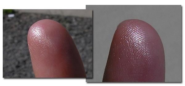 Guerlain Cruel Gardenia Meteorites - свотчи на пальцах