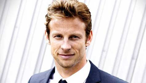 Jenson Button, posando